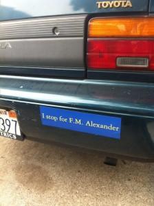 I stop for F.M. Alexander