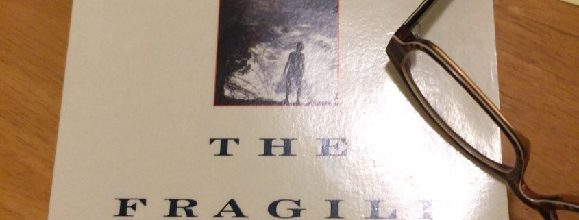 Book cover of The Fragile Species by Lewis Thomas.